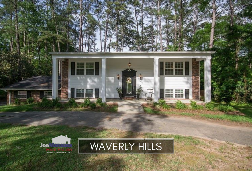 Waverly Hills is the quintessential Tallahassee neighborhood, featuring a small pond surrounded by roughly 400 medium and large homes on nice-sized lots.