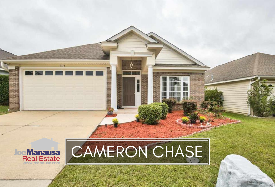 Cameron Chase is located at the southern edge of Killearn Estates and contains approximately 130 three and four bedroom homes.