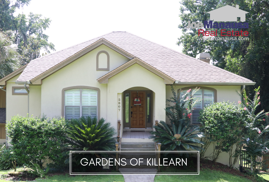 The Gardens of Killearn is a popular niche neighborhood located along the southern boundary of Killearn Estates in the NE quadrant of the Tallahassee real estate market.