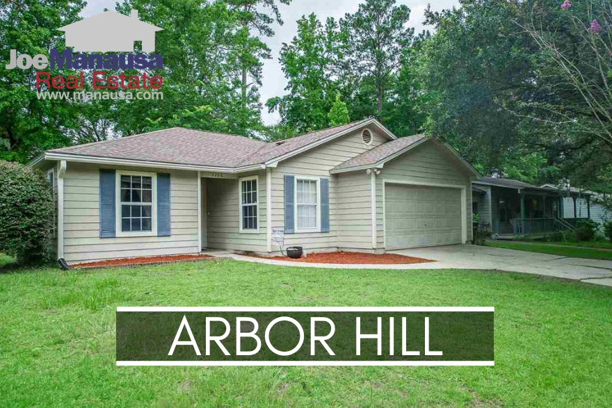 Arbor Hill is a super-high demand neighborhood located in NE Tallahassee, adjacent to popular Killearn Estates