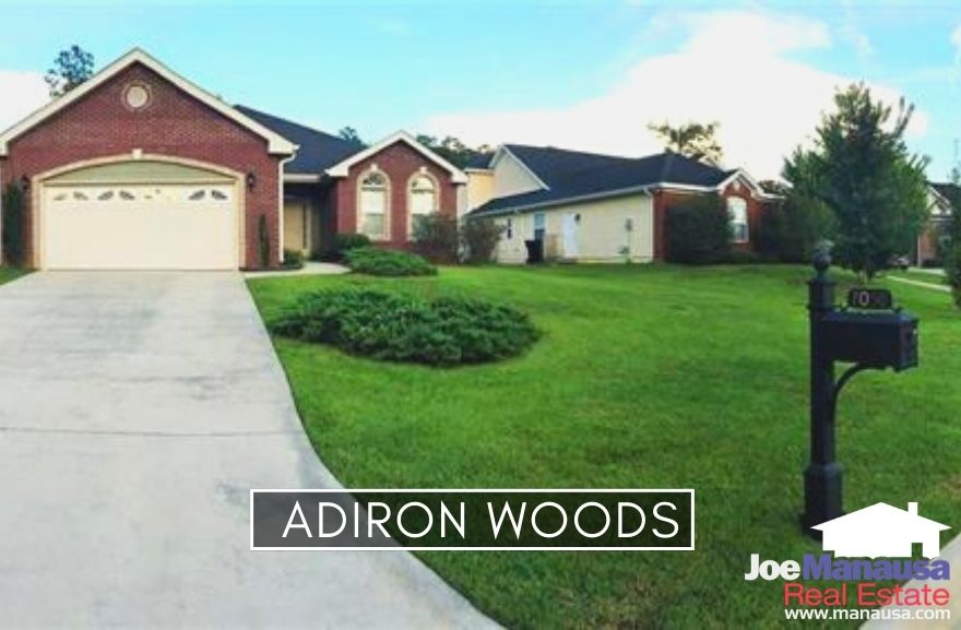 Adiron Woods is a smaller neighborhood of 81 four and three-bedroom homes that were all built within the past ten to twenty years.