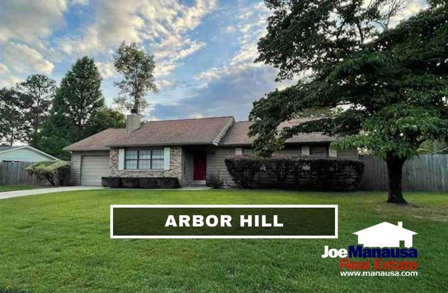Arbor Hill is a very popular Northeast Tallahassee neighborhood located on the southern border of Killearn Estates (among the top-selling neighborhoods in our area).