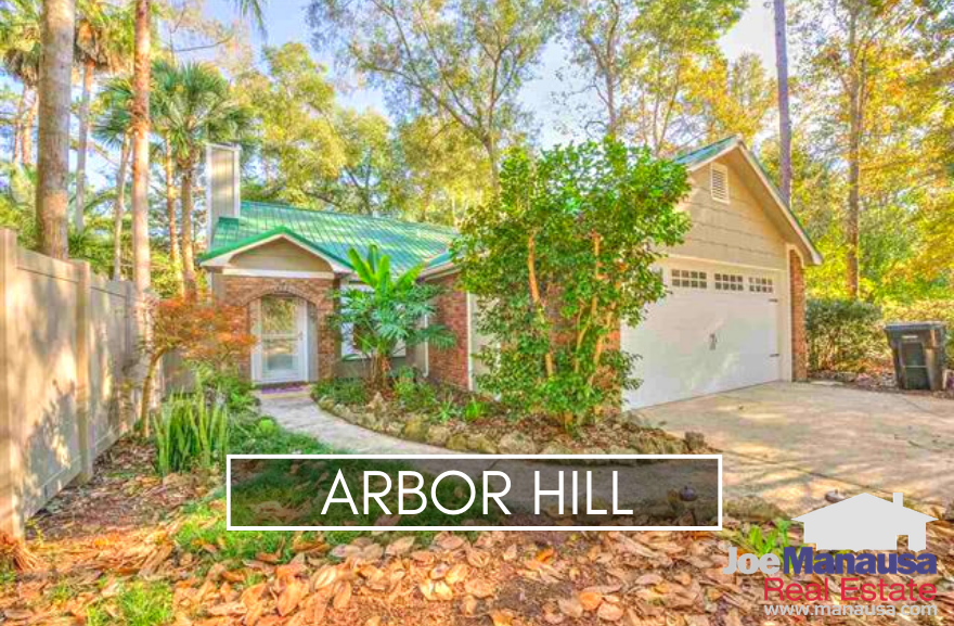 Arbor Hill is located a bit north of the Interstate and serves as part of the southern border of Killearn Estates.