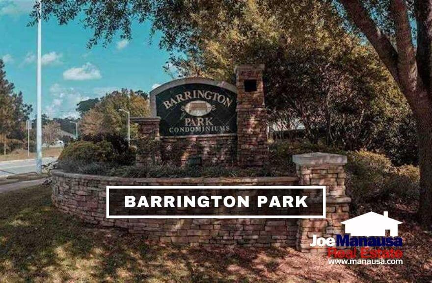 Barrington Park is a 300+ unit condominium complex located on the western side of Thomasville Road just north of Bull Run.