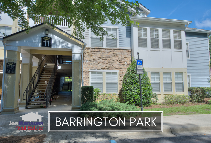 Barrington Park is a condominium development located in northeast Tallahassee at the corner of Thomasville Road and Chancellorsville Drive.