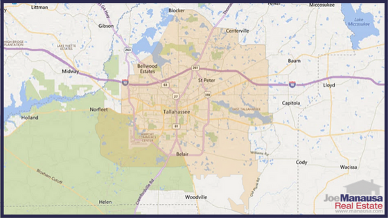 Tallahassee USDA Loan Map