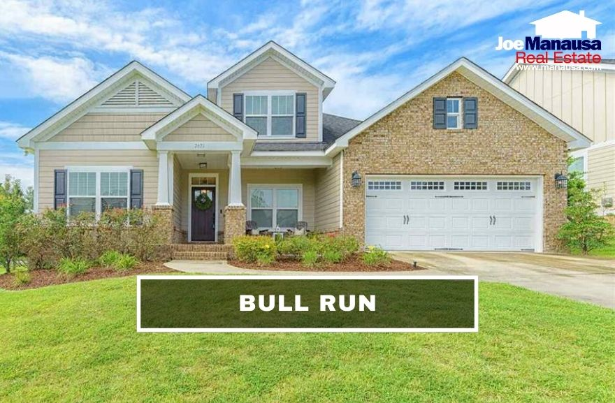 Bull Run is a smoking-hot newer neighborhood with roughly 380 four and three-bedroom homes on smaller lots.