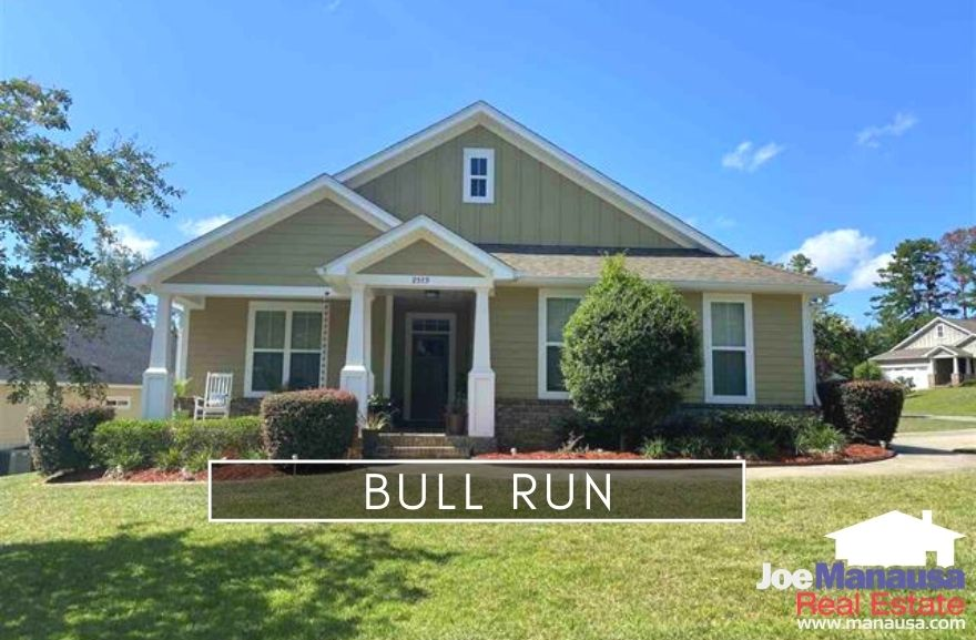 Bull Run is an uber-popular neighborhood located in the high-demand 32312 zip code and contains about 380 three and four-bedroom homes.