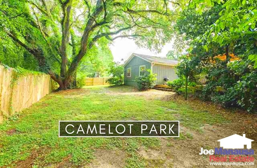 Camelot Park is a popular NE Tallahassee neighborhood that contained 366 four and three-bedroom single-family detached homes on ample-sized lots.