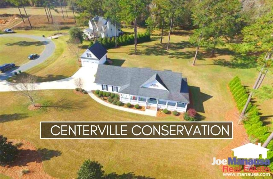 Centerville Conservation is a newer high-end neighborhood with just under 200 large homes on multiple-acre tracts.