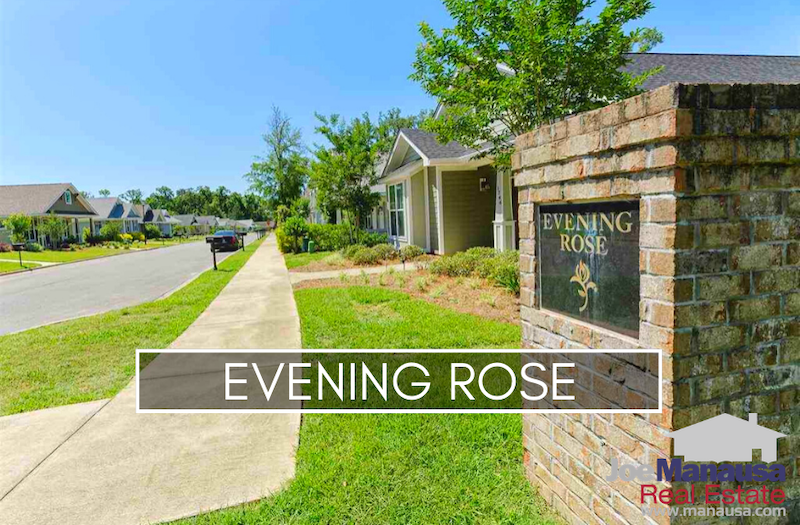 Evening Rose in Northeast Tallahassee is a thirteen-year-old neighborhood which once construction is complete will be filled with roughly 75 three and four-bedroom homes attached and detached single-family homes.