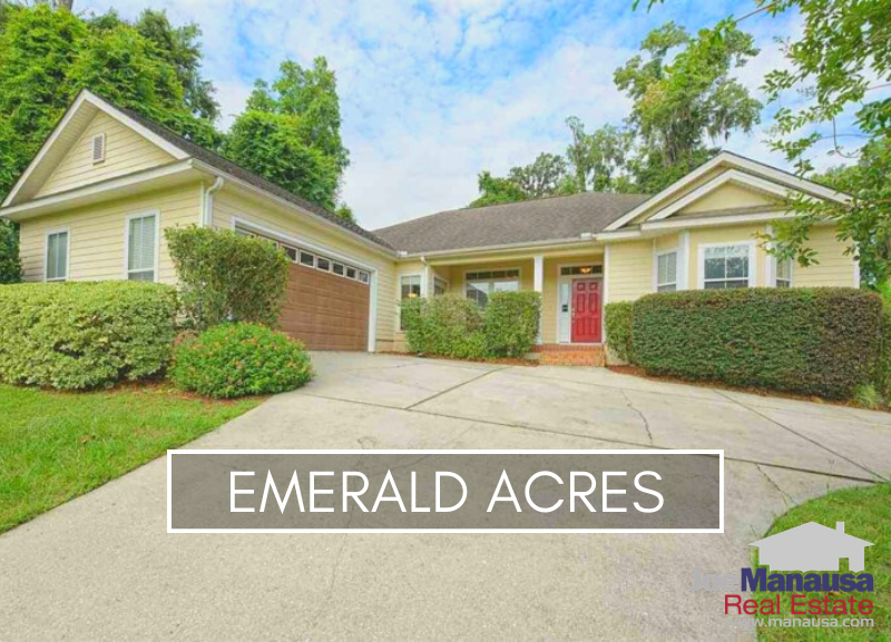 Emerald Acres in NE Tallahassee is a smaller neighborhood of just over 125 three and four-bedroom homes built since 1995