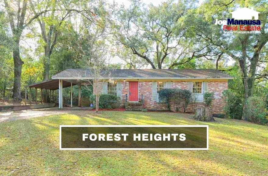 Forest Heights is a popular Northwest Tallahassee neighborhood located centrally just north of Tharpe Street and south of Hartsfield Road.