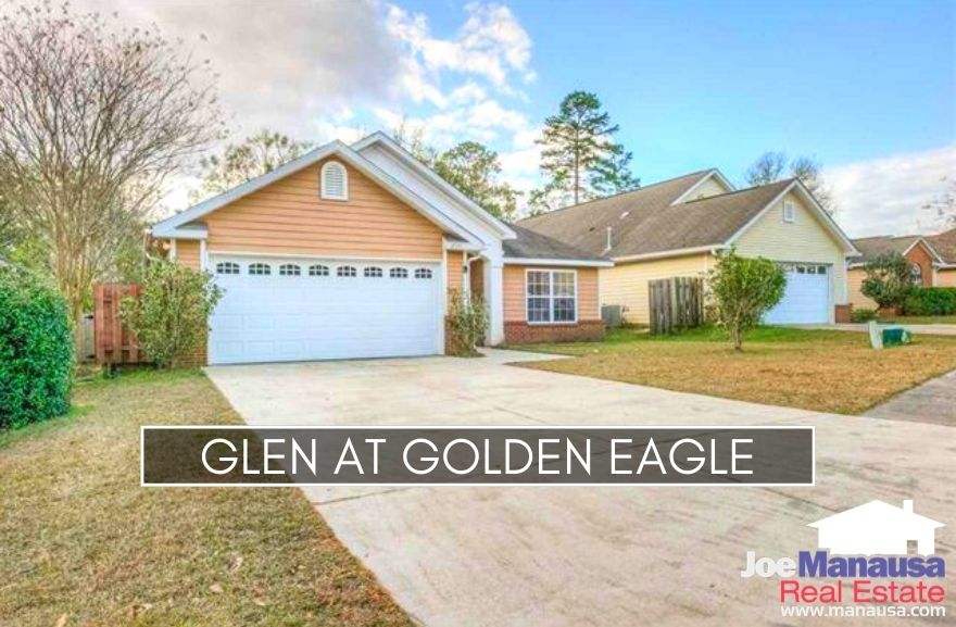 The Glen at Golden Eagle is a popular Northeast Tallahassee neighborhood containing more than 200 three and four-bedroom patio homes.