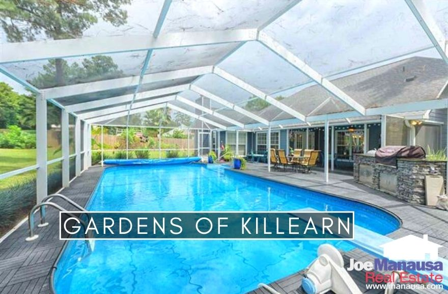 The Gardens of Killearn is located on the western edge of Centerville Road and sits at the southwest corner of Killearn Estates.