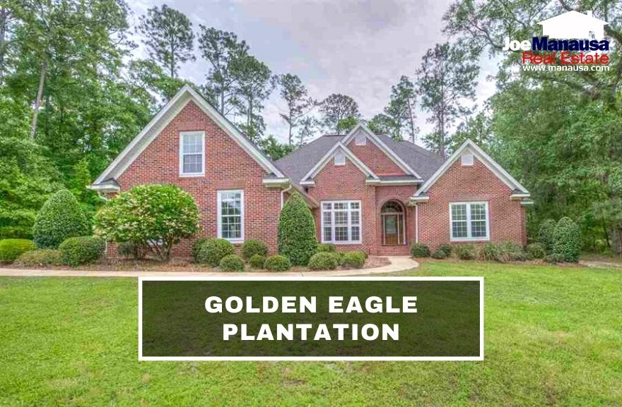 Golden Eagle Plantation is located at the center of Killearn Lakes Plantation, containing nearly 1,000 high-end homes inside of an actively guarded gated community.
