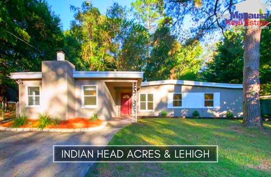 Indian Head Acres and Lehigh are adjacent neighborhoods in downtown Tallahassee are located just south of Apalachee Parkway on the east side of Jim Lee Road and Magnolia Drive.