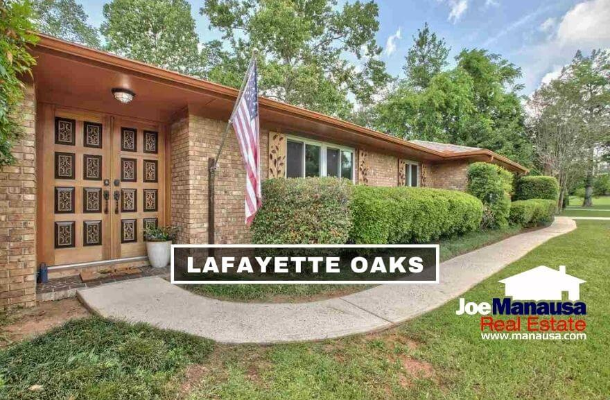 Lafayette Oaks is located on the east side of town, south of I-10 on the west side of Mahan Drive, north of Capital Circle NE.