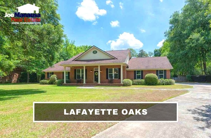 Lafayette Oaks is Tallahassee's first gated community, containing just under 320 homes that were built from the 1970s to the present.