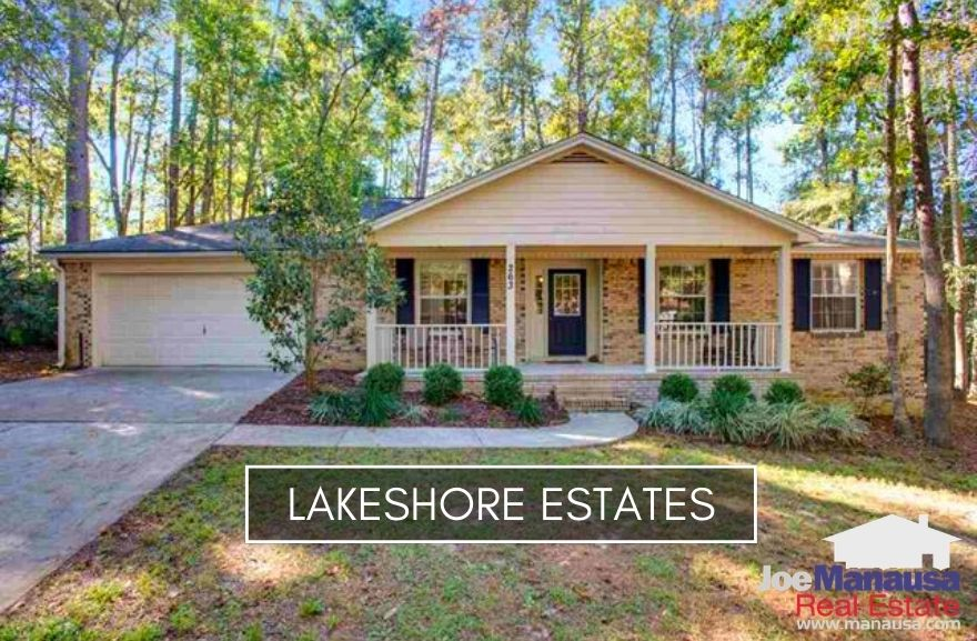 Lakeshore Estates in Northwest Tallahassee is located just north of I-10 on the west side of Meridian road.