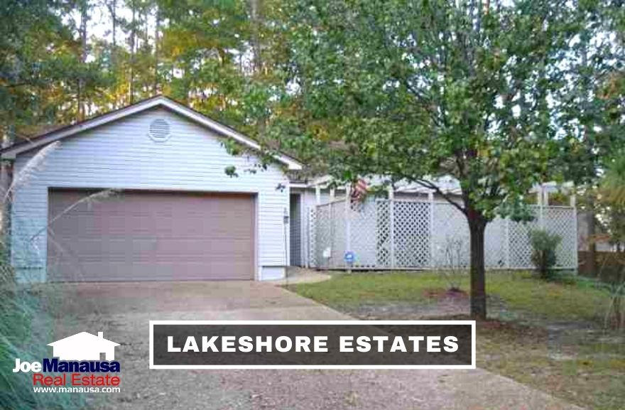 Lakeshore Estates is a popular NW Tallahassee neighborhood filled with 370 single-family detached homes and 30 single-family attached homes.