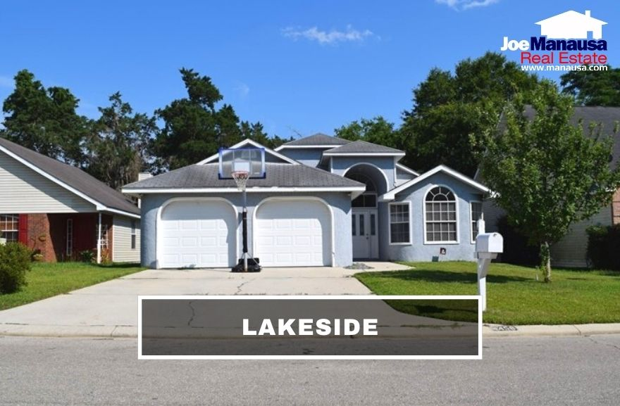 Lakeside is a popular NW Tallahassee neighborhood located off North Monroe Street across from Jackson View Landing on Lake Jackson.