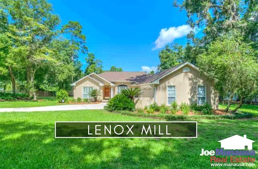Lenox Mill is a popular neighborhood of 131 three and four-bedroom homes built since 1991 with each  on more than 1/3rd of an acre of land.