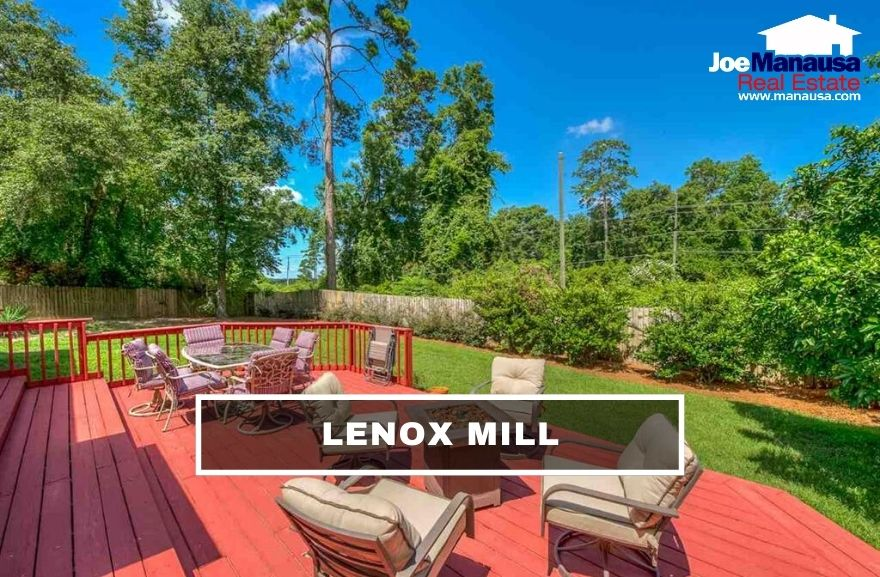 Lenox Mill is located just north of Northampton on the east side of Thomasville Road, making it a high-demand destination when you can find a home for sale here.