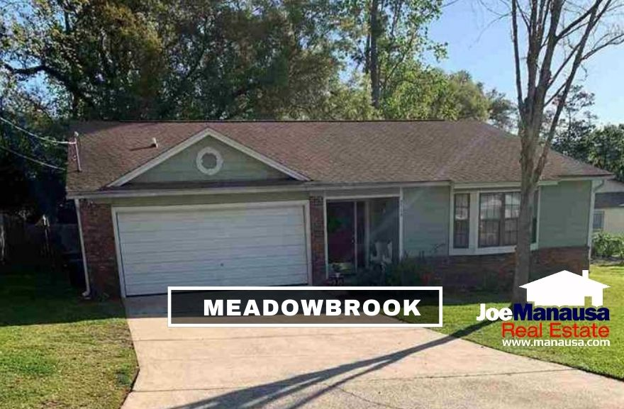 Meadowbrook is a mid-sized neighborhood containing 280 single-family detached homes on nice-sized lots and is wildly popular with buyers near the $250K price point.