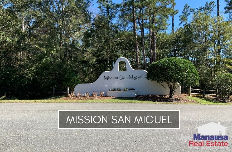 Mission San Miguel is a popular east-side of Tallahassee neighborhood filled with more than 60 new and newer three and four-bedroom homes on an acre.