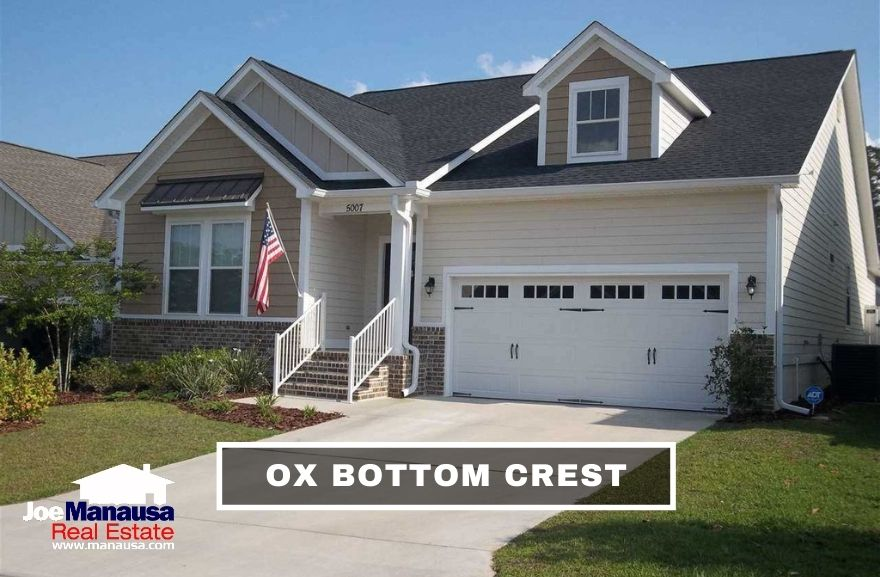 Ox Bottom Crest is a newer neighborhood filled with 150 four and three-bedroom single-family detached homes.