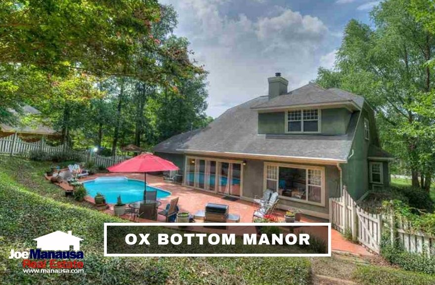 Ox Bottom Manor is a popular Northeast Tallahassee neighborhood containing roughly six hundred five, four, and three-bedroom homes on generous half-acre lots.