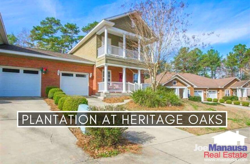 Plantation at Heritage Oaks and Apalachee East combined have roughly 70 detached and attached newer homes all built since 2006.