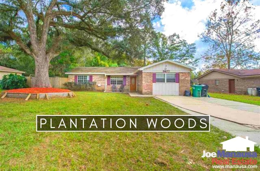 Plantation Woods is a popular NW Tallahassee neighborhood containing more than three hundred single-family detached homes on nice-sized parcels of land.