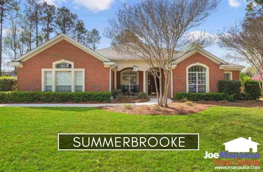 Summerbrooke in Northeast Tallahassee is an executive-home neighborhood that is built around an 18-hole golf course and its residents have access to A-rated public schools.
