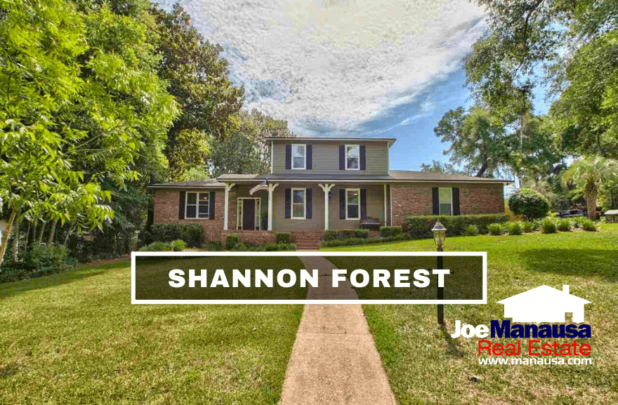 Shannon Forest is located in the super-hot 32309 zip code on the east side of Thomasville Road and serving as a western edge of Killearn Estates.