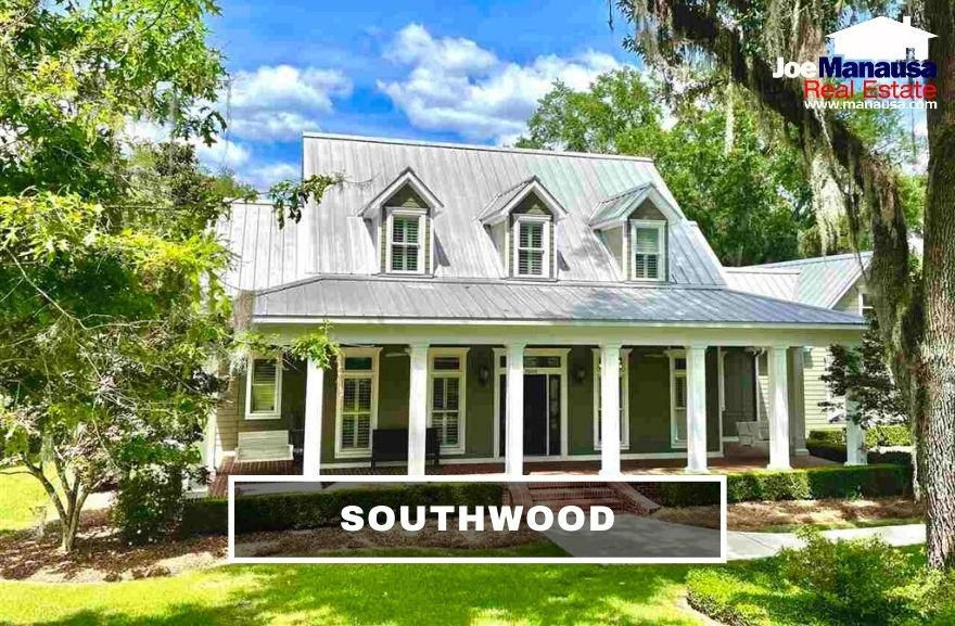 Southwood is the largest neighborhood in Southeast Tallahassee and is located in the east side of Capital Circle Southeast just south of Old St. Augustine Road.