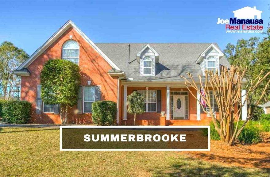 Summerbrooke is a popular NE Tallahassee neighborhood containing more than 600 five, four, and three-bedroom executive-sized homes.