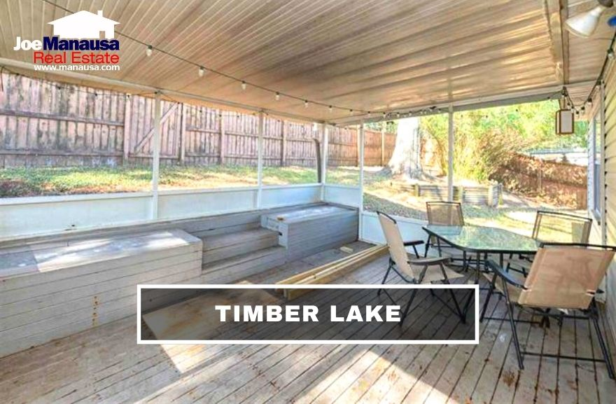 Timber Lake is a popular SE Tallahassee neighborhood that contains 236 single-family detached two and three-bedroom homes on small parcels of land.