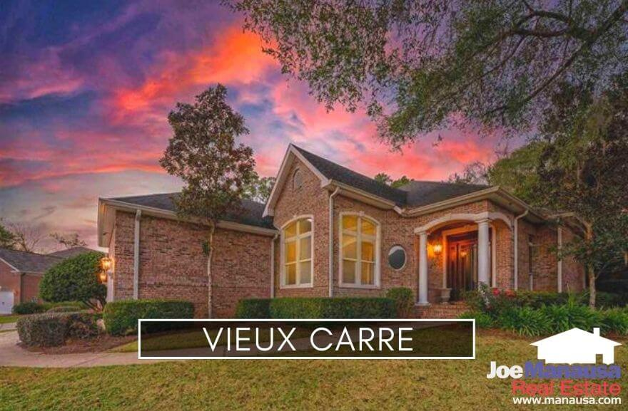 Vieux Carre is a popular Northeast Tallahassee neighborhood located east of Thomasville Road on the north side of Hermitage Boulevard.