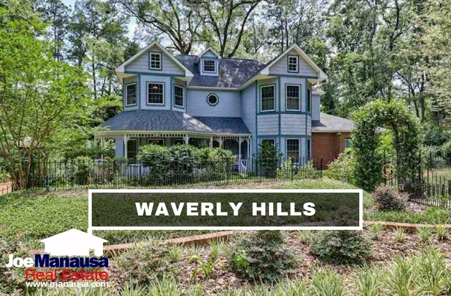 Waverly Hills in Midtown Tallahassee features 377 older five, four, and three-bedroom homes on nice-sized lots and is a hot