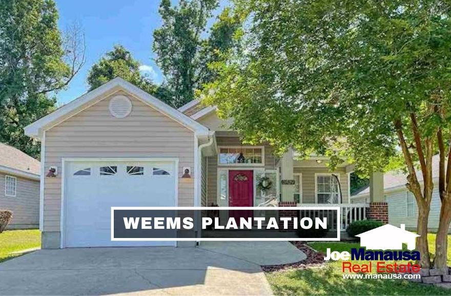 Weems Plantation is located between Capital Circle Northeast and Buck Lake Road in high-demand Northeast Tallahassee.