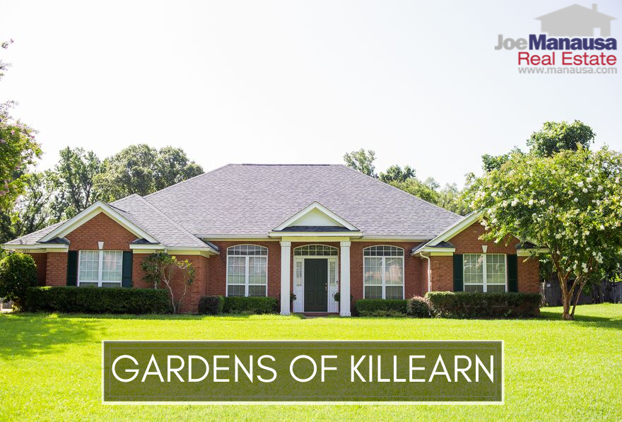 The Gardens of Killearn is a smaller neighborhood located within the Killearn Estates community, filled with 3 and 4-bedroom homes aged twenty to thirty years old.