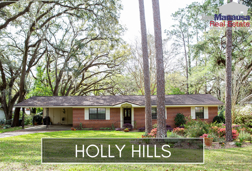 Holly Hills is located north of Tharpe Street just south of Hartsfield Road, and it features large homes on spacious lots.