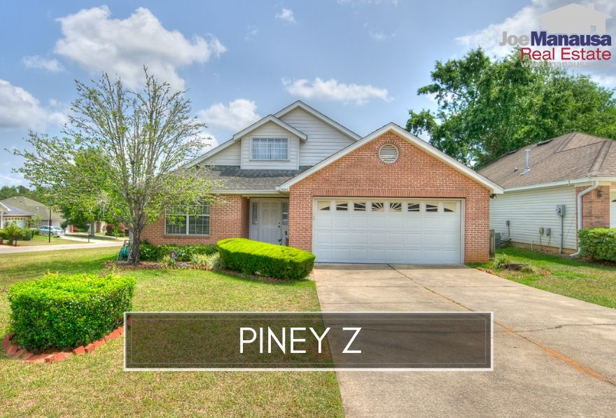 The popular Piney Z neighborhood is located five minutes from downtown Tallahassee and offers a bounty of amenities including a pool, fitness center, pavilion, playground, gazebo park, quick access to shopping, dining, entertainment, and of course the walking trails in Lafayette Heritage Trail Park.