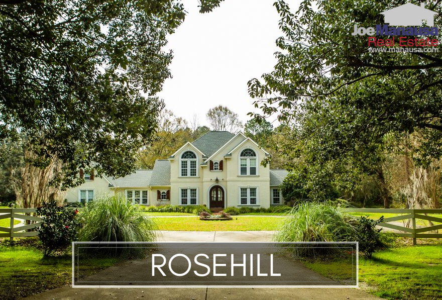 Rosehill is located on the south side of Ox Bottom Road and the east side of Meridian Road.
