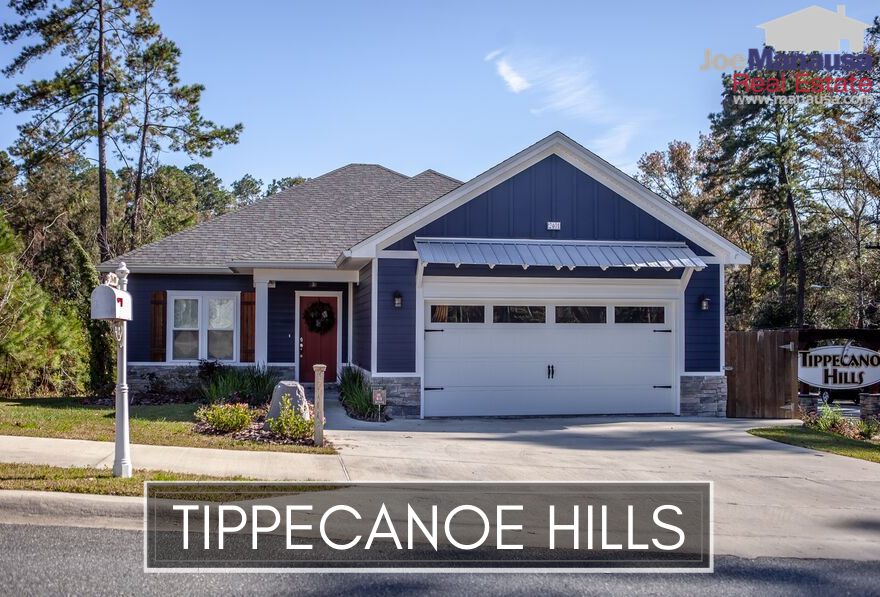 Tippecanoe Hills is a popular Northwest Tallahassee neighborhood offering brand new and resale three and four bedroom homes.