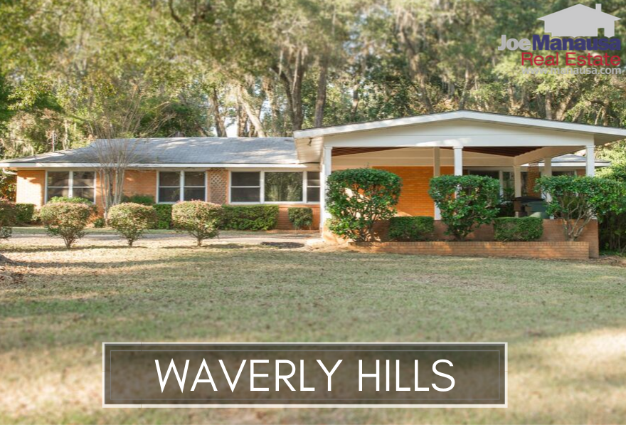 Waverly Hills is one of the most popular neighborhoods just north of the Tallahassee Midtown area, filled with various sized homes built over the past 67 years.