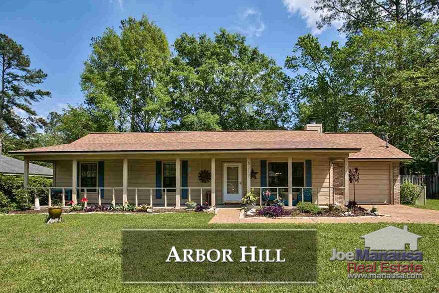Conveniently located as the southern boundary for Killearn Estates, Arbor Hill homebuyers are getting a lot of home for the money these past five years