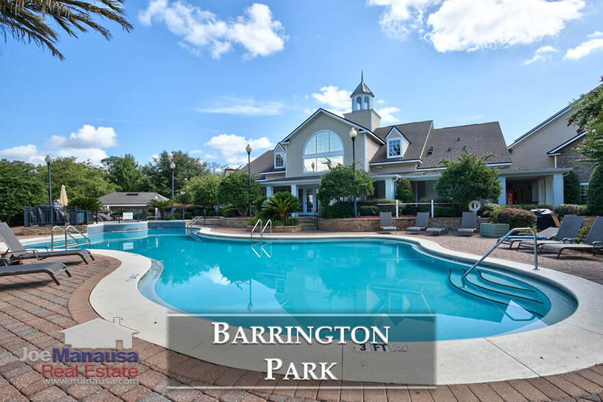 Barrington Park is a condominium development located in northeast Tallahassee at the corner of Thomasville Road and Chancellorsville Drive